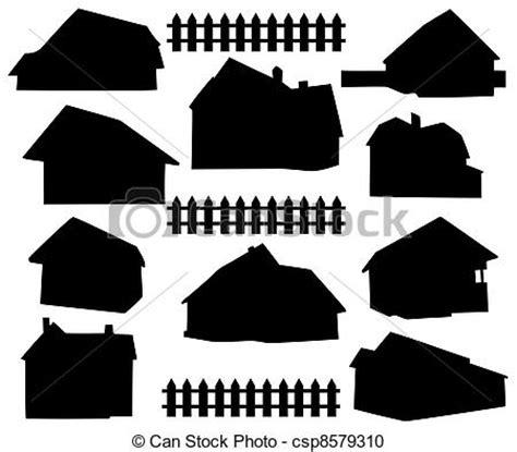 House Plans Farmhouse Country clipart vecteur de maison silhouette silhouette maison