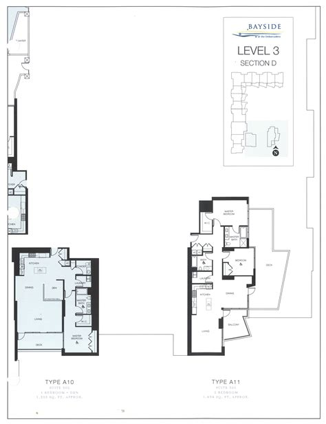 3 level floor plans bayside floor plan level 3 section d