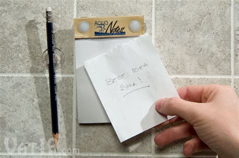 Shower Notepad by Aquanotes The Waterproof Notepad