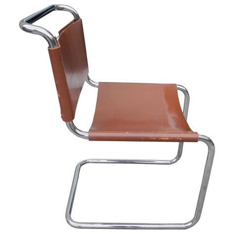 leather chair designs bauhaus design cantilevered tubular metal and saddle