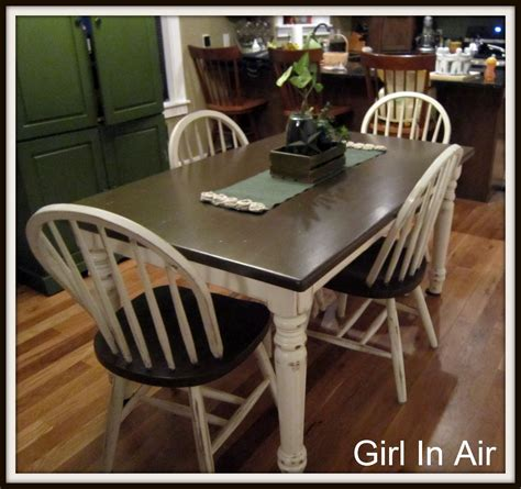 Staining A Kitchen Table In Air Staining And Distressing A Table And Chairs