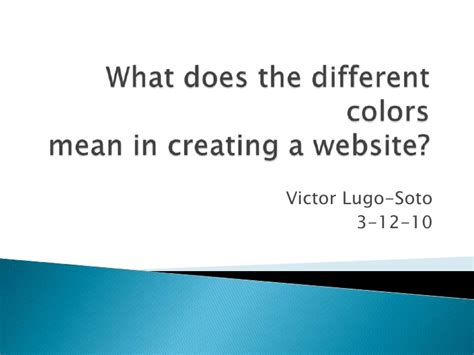 what do the colors mean what does the different colors mean in creating a website