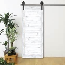 porte de grange coulissante blanche espace bois