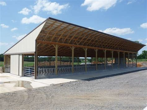 Heifer Barn Plans pack freestall shelter is shown in figure 9 for a 100 cow