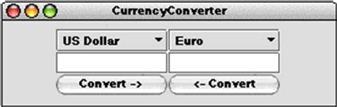 currency converter java program chapter 4 graphical user interfaces