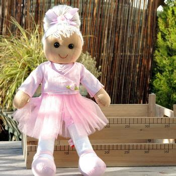 rag doll not on the high personalised ballerina rag doll by the alphabet gift shop
