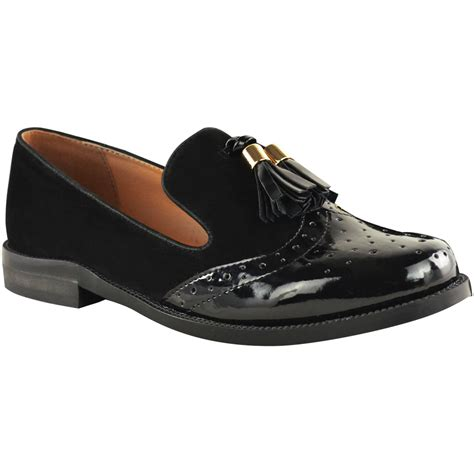 brogues and loafers womens flat tassel loafers brogues shoes tartan