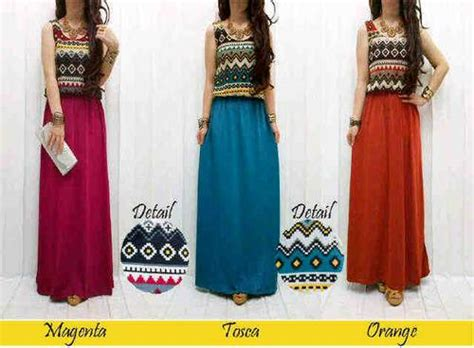 Vero Crop Tribal Bahan Rajutan baju muslim tribal hairstylegalleries