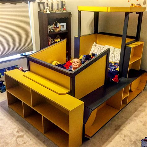 childrens twin bed diy kids bulldozer twin bed bulldozer bed pinterest