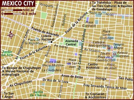tourist map of mexico city map of mexico city