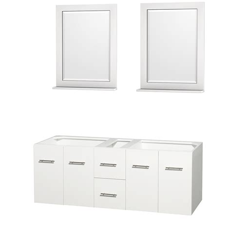 60 Inch White Bathroom Vanity Wyndham Collection Wcvw00960dwhcxsxxm24 Centra 60 Inch Bathroom Vanity In White No