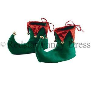 christmas green mens dress shoes deluxe shoes boots and green fancy dress pixie santa ebay