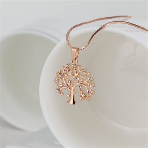 tree of pendant necklace jewelry fashion 2017 silver gold color