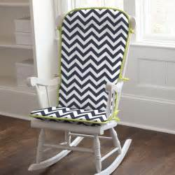 Citron zig zag nursery decor navy and citron zig zag rocking chair pad