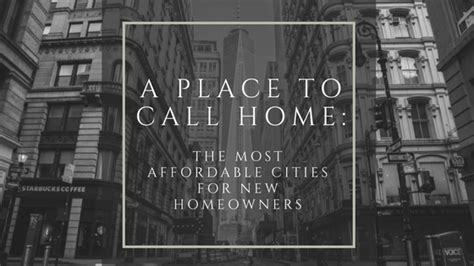 a place to call home the most affordable cities for new