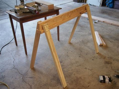 sawhorse legs for diy table 17 best images about work bench on diy workbench diy desk and tables