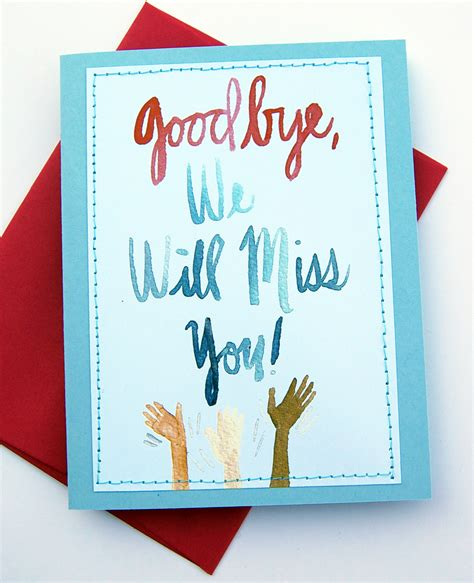 card greetings handmade card design we will miss you cards card