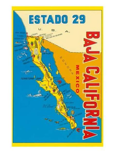 maps of baja california mexico map of baja california mexico posters at allposters au
