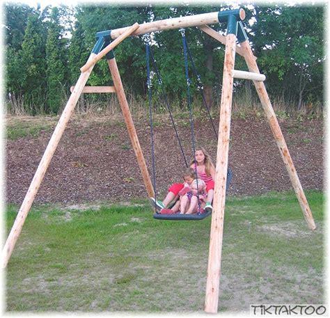 swing schaukel loggyland schaukel swing mit familienschaukel standard