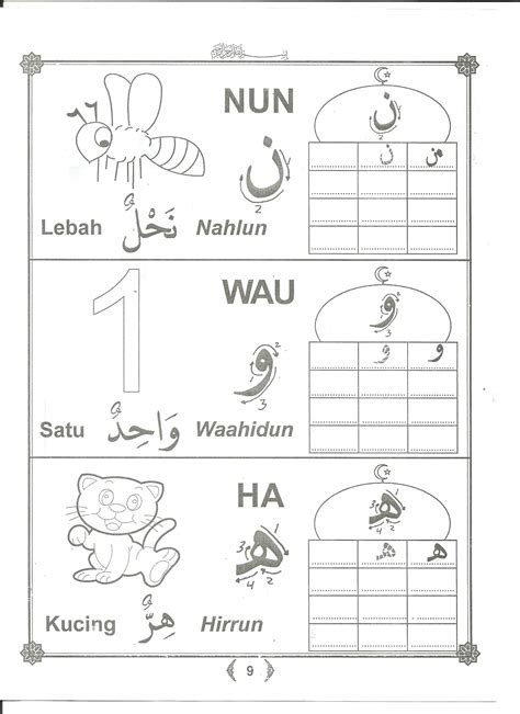 Belajar Menulis Berhitung Melalui Sc mewarnai dan menulis huruf hijaiyah dan angka arab