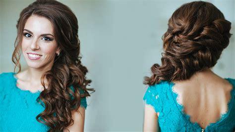 hair style up in one плетение из локонов на один бок youtube