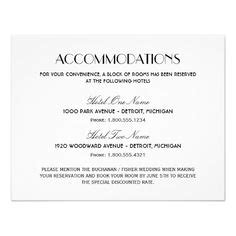 Wedding Hotel Accommodation Card Template by Invite Wording On Accommodations Card Wedding