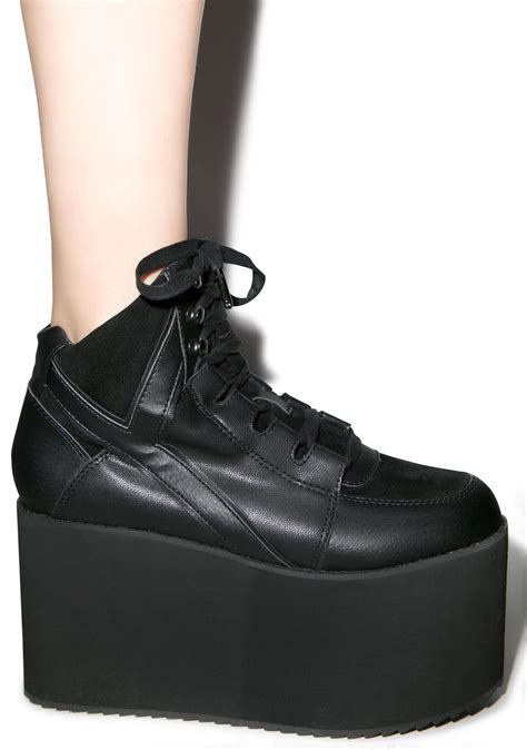 sneaker platforms y r u qozmo hi platform sneakers dolls kill