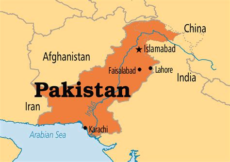 where is pakistan on the map pakistan operation world