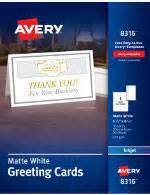 Office Depot Business Card Template 717 631 by Avery Adhesive Display Cards 3 34 X 3 34 Matte White