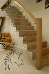 Black Handrails For Stairs Glass Balustrading Oak Handrail With Glass Toughened Glass