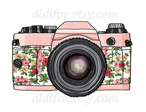 Kamera Motif Unik Pink Dslr clipart illustration a pencil and in color clipart illustration a