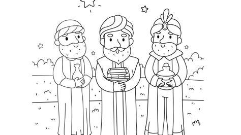 dibujos de navidad para colorear e imprimir reyes magos dibujos de reyes magos para colorear hogarmania