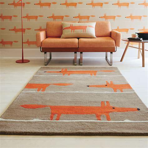mr rugs scion mr fox rugs 25303 cinnamon free uk delivery the rug seller