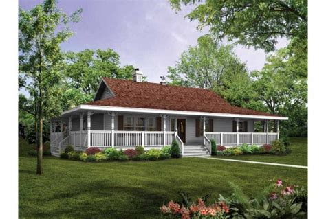 Farmhouse Plans With Wrap Around Porch by 1 Story Farmhouse Plans With Wrap Around Porch Ideas