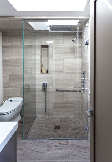 shower tile floor bathroom contemporary with bathroom