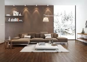 wohnzimmer modern braun legno meissen keramik