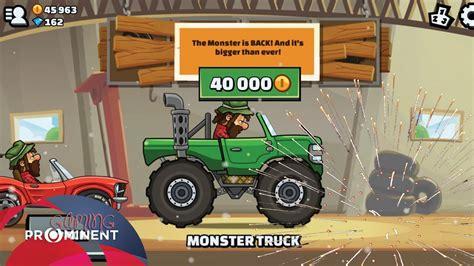 hill climb racing monster truck hill climb 2 monster truck x mas cup youtube
