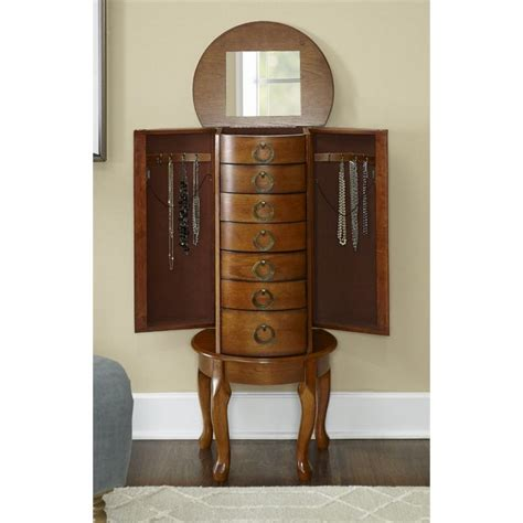Powell Oak Jewelry Armoire by Powell Jewelry Armoire In Burnished Oak 604 318