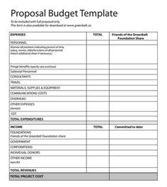 funding bid template budget template templates