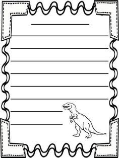 lined paper with dinosaur border the gallery for gt dinosaur border writing paper