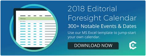 300 Events To Jump Start Your 2018 Editorial Calendar Template Editorial Calendar Template 2018