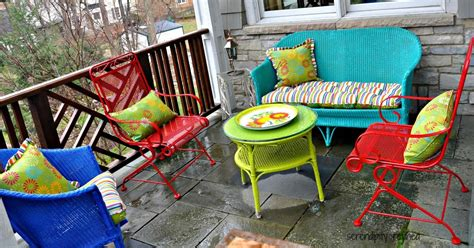 spray paint chairs white serendipity refined wicker and wrought iron patio