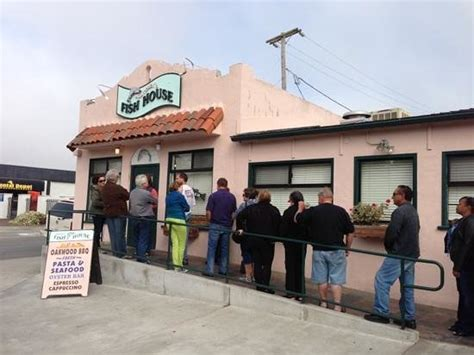 line out front picture of monterey fish house monterey