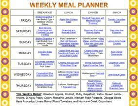 1 most effectif of weekly diet meal plan plan for success