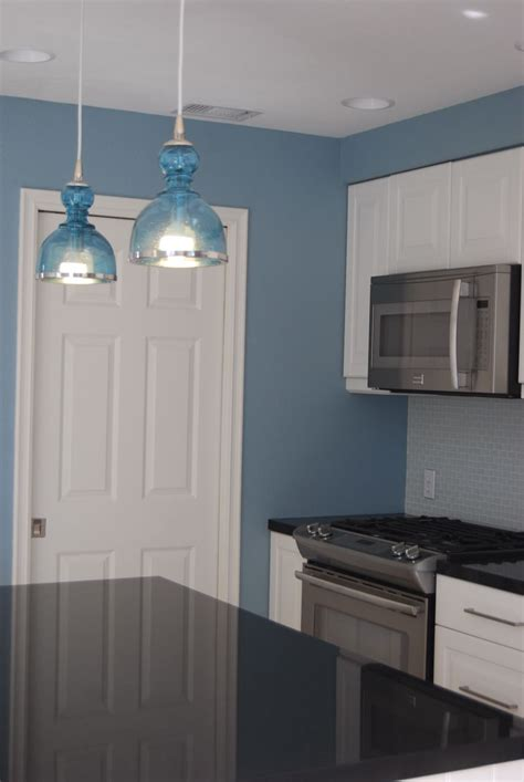 blue walls in kitchen remodelaholic bright and blue and beautiful kitchen remodel