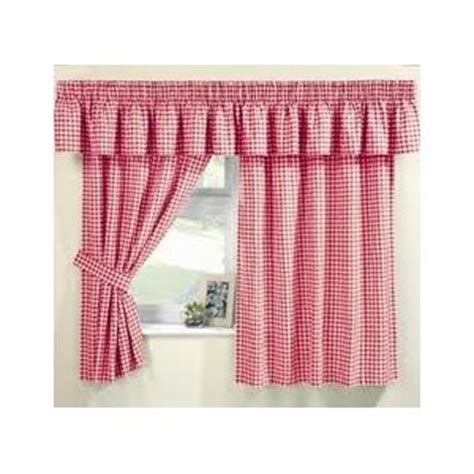 maisy red gingham curtains pelmet sold separate net