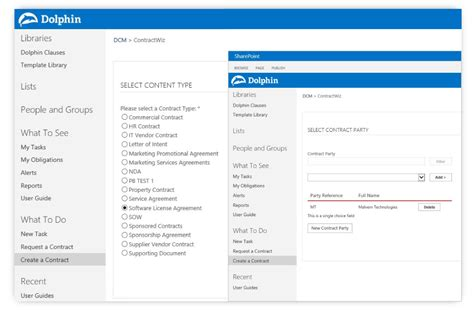 Dolphin Contract Manager For Microsoft Sharepoint Sharepoint Contract Management Template