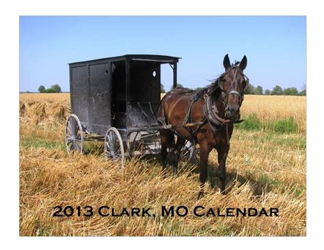 Clark Calendar Clark Amish Calendar