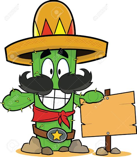cartoon sombrero cartoon with hat cactus clipart explore pictures