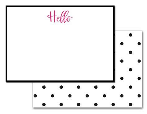 Hello Card Printable